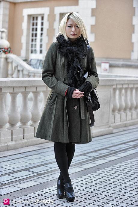 pakaian musim dingin wanita jepang