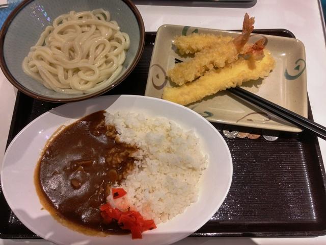 udon kombinasi tempura dan curry