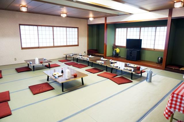 ruang makan tradisional di gunung fuji