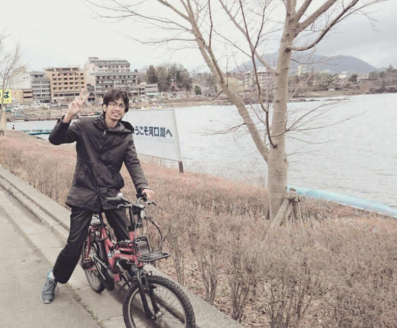 bersepeda di kawaguchiko fuji