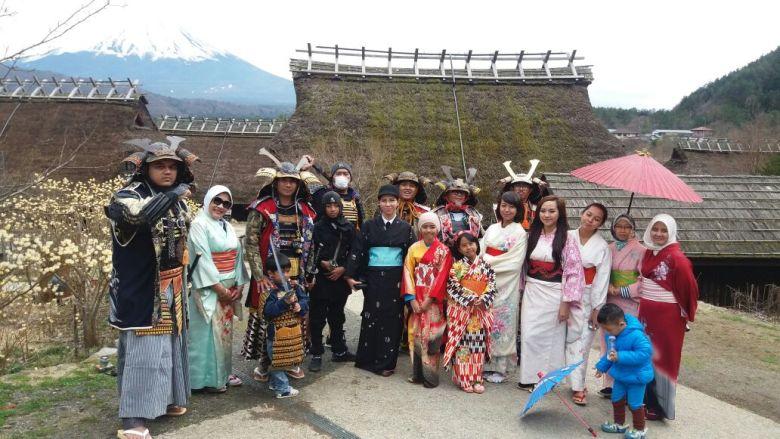 tour jepang kawaguchiko iyashi no sato 2016