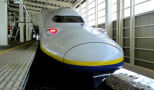 shinkansen dari tokyo ke gala yuzawa station niigata jepang